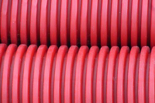 tube plastic red