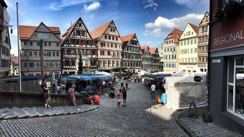 tübingen city marketplace