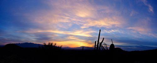 tucson, saulėtekis, dykuma, gamta, kraštovaizdis, Arizona, panorama, Tuksono saulėtekis
