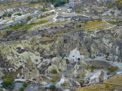 tufa rock formations landscape