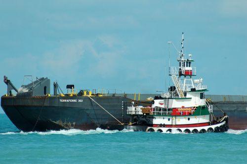 tug boat barge towing