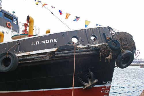 Tug Boat On Display In Harbour