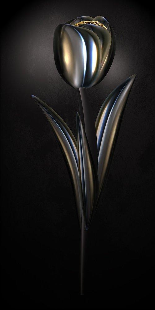 tulip  chrome  metallic