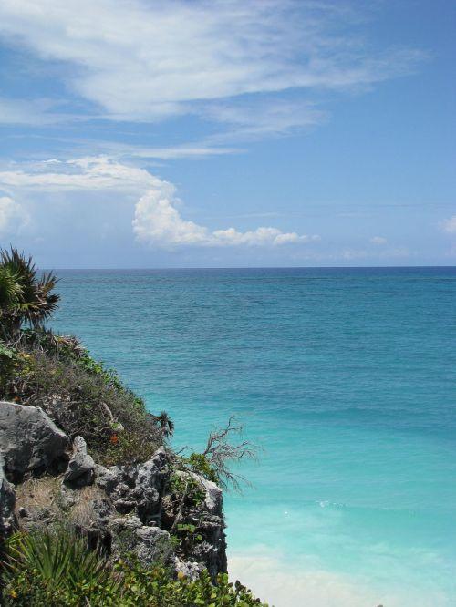 tulum beach rock