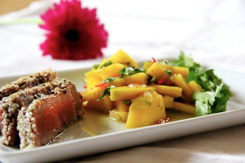tuna sesame crust fish