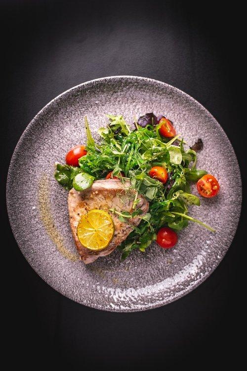 tuna  steak  food