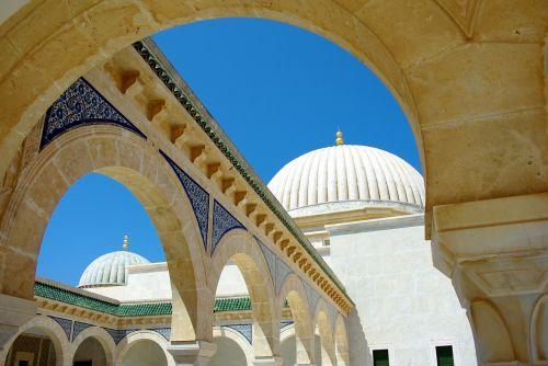 Tunisas,monastiras,arcade,kupolas,mauzoliejus,stulpeliai,paminklas,architektūra,paveldas
