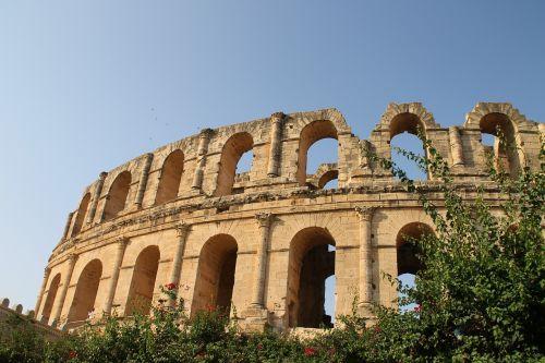 tunisia amphitheatre old