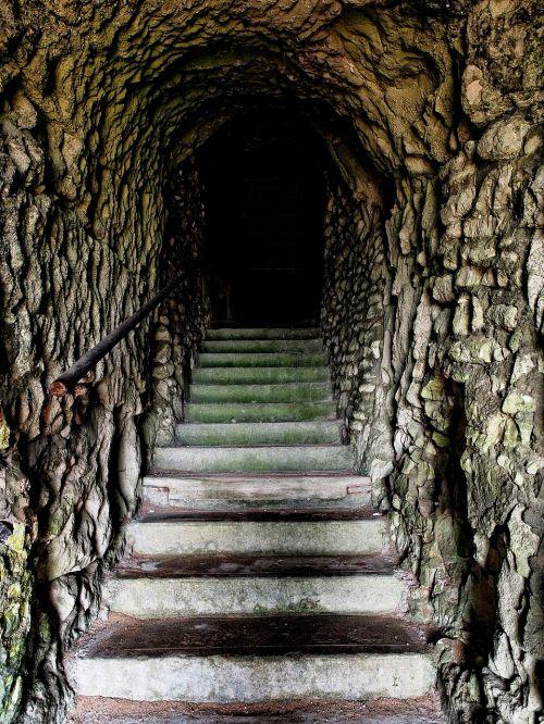 tunnel steps dark