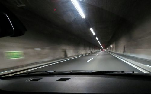 tunnel highway drive