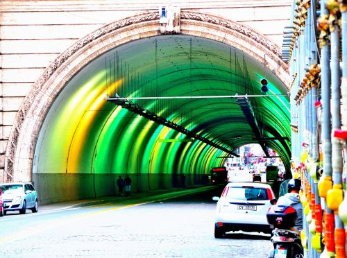 tunnel colors city