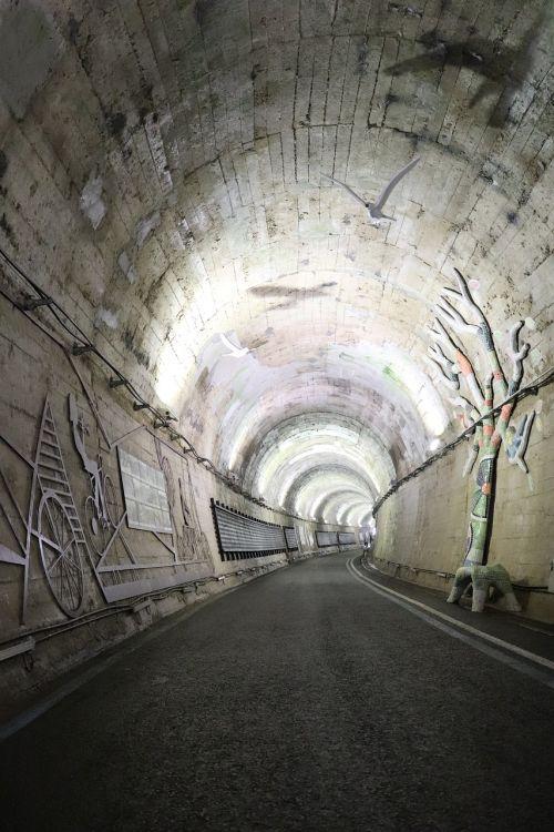 tunnel light in the dark