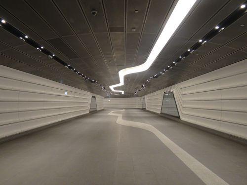 tunnel underground futuristic
