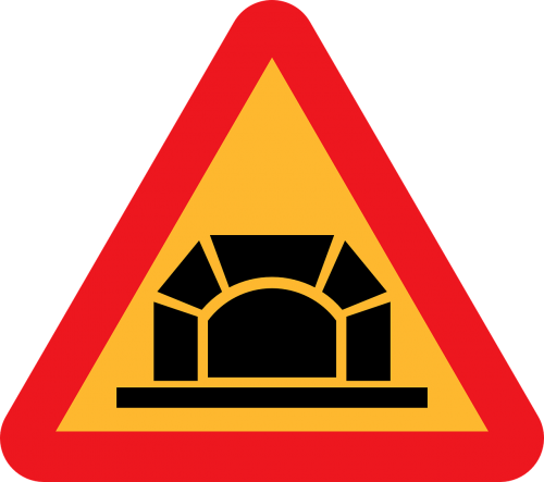 tunnel roadsigns road