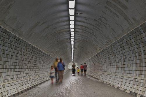 tunnel  pedestrian tunnel  passage