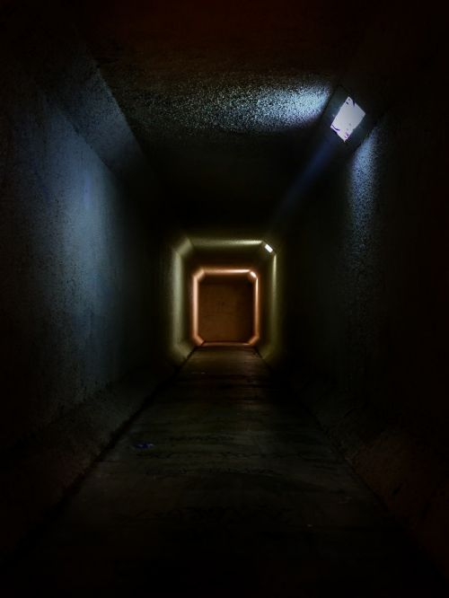 tunnel spooky mysterious
