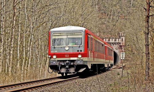 tunnel exit diesel railcar south eifel