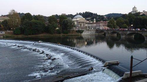 turin  river  waterfall
