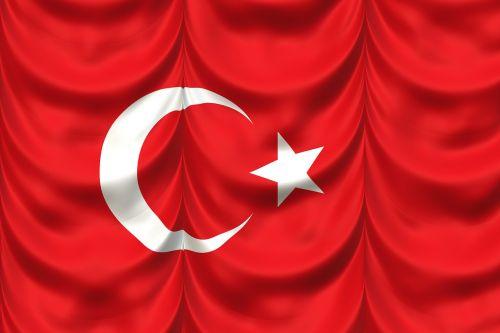turkey flag curtain