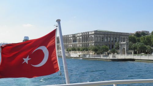 turkey bosphorus turkish flag