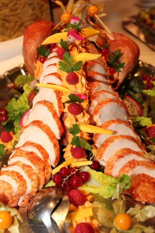turkey carving buffet