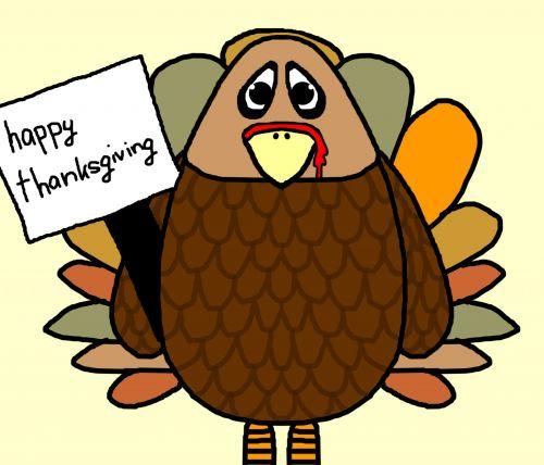 Turkija, padėka, laimingas, šventė, ženklas, iliustracija, animacinis filmas, kritimas, Turkija su ženklu