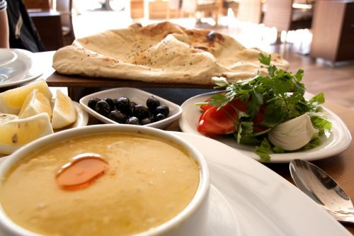 turkish food soup meze