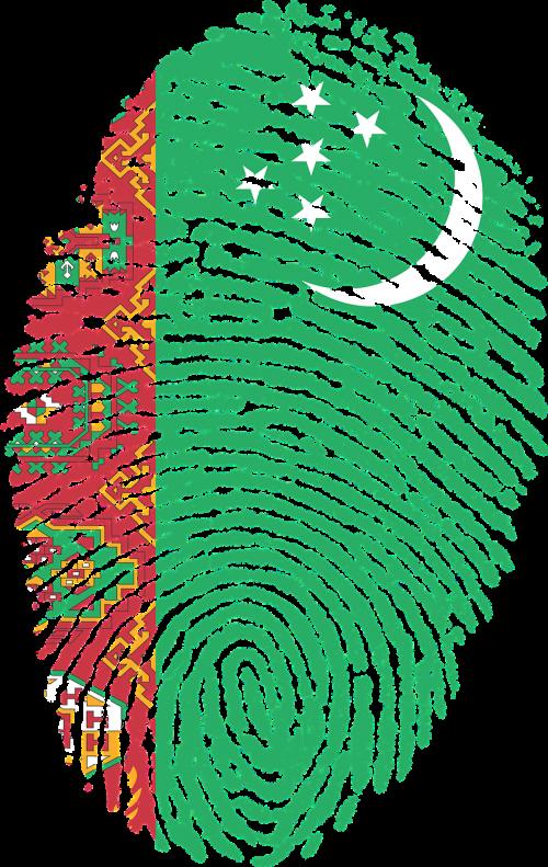 turkmenistan flag fingerprint