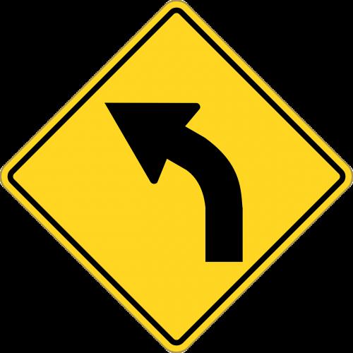 turn left arrow