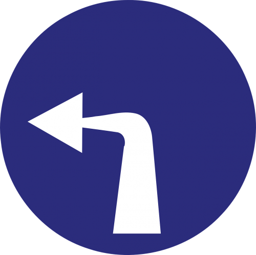 turn left arrow direction