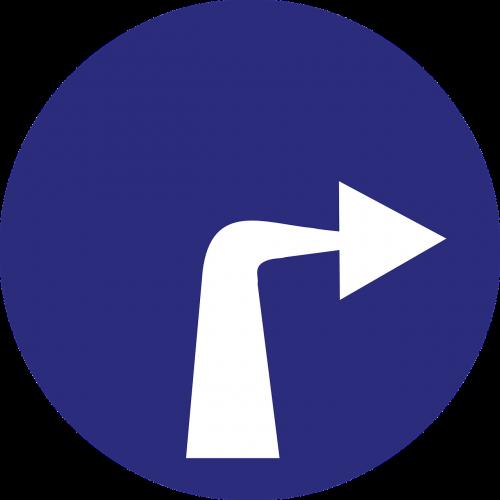 turn right arrow direction