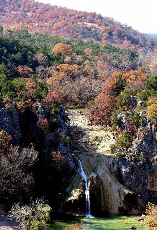 Turner Falls Waterfall In Fall