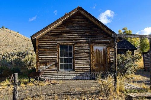 turner house in bannack montana  montana  usa