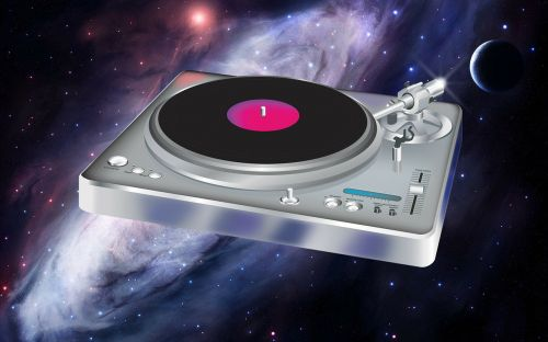 turntable floating dj