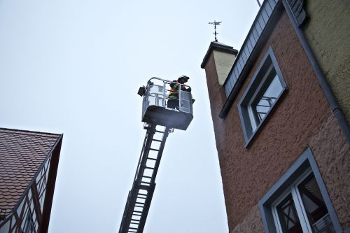 turntable ladder fire rescue