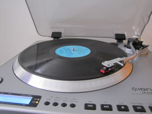 Turntable With LP Record