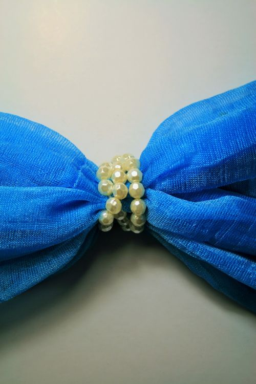 Turquoise Scarf With Beads