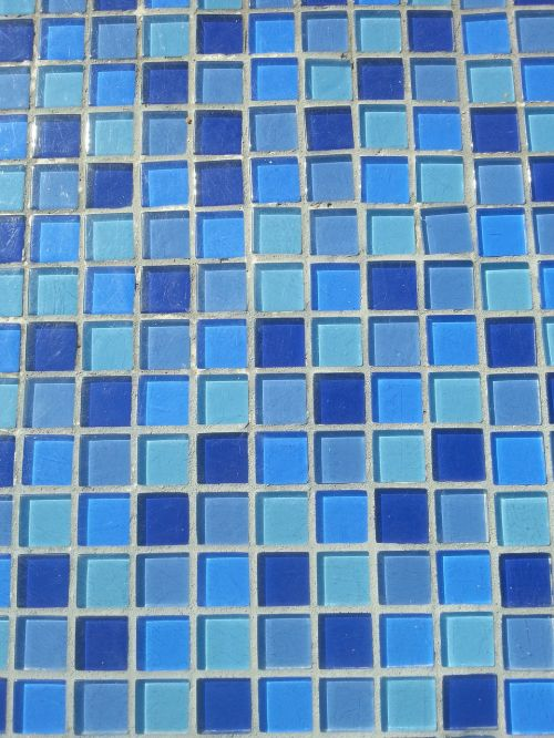 turquoise tiles blue