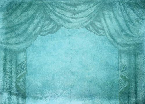 turquoise stage stage curtain