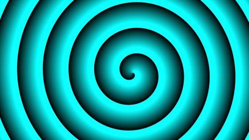 Turquoise Hypnotic Background