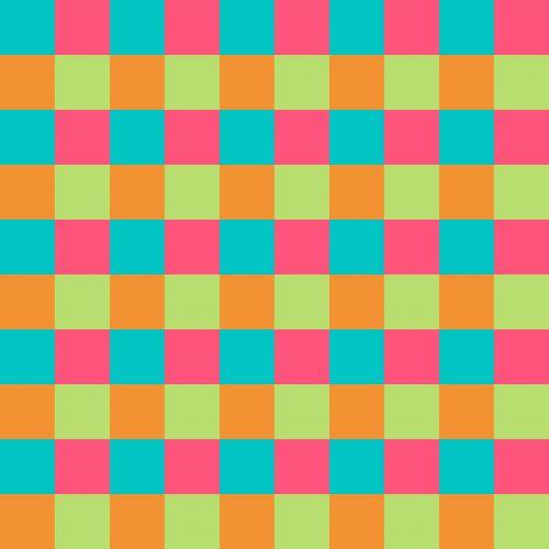 Turquoise Pink Orange Lime Pattern