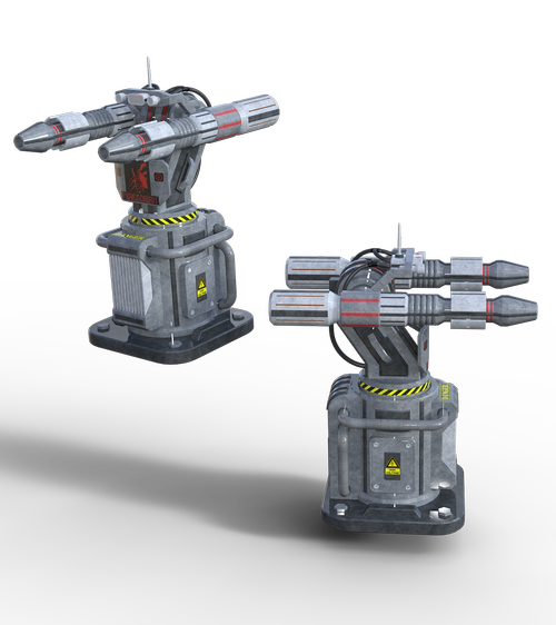 turret  science fiction  weapon