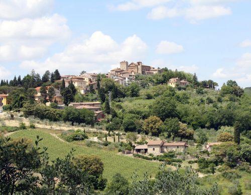 tuscany wine landscape