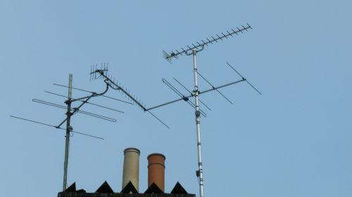 tv, televizija, antena, antena, antenos, antenos, priėmimas, skaitmeninis, stogas, ant stogo, stogai, tv antenos ant stogo