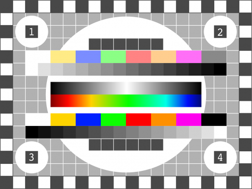 tv test pattern test picture display