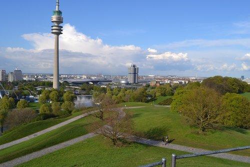 tv tower  olympic park  bavaria
