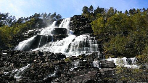 tvindefossen  waterfall  nature
