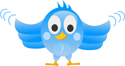 tweeting twitter bird
