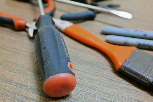 tweezers  screwdriver  brush
