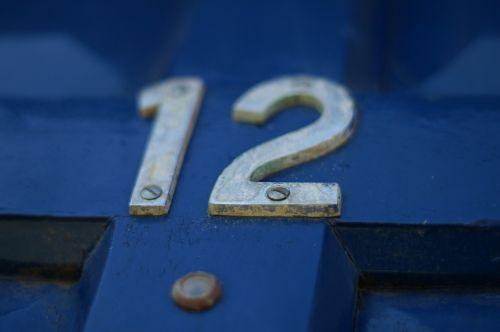 twelve number door